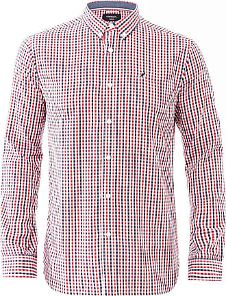 Kangol Mens Long Sleeve Check Gingham Casual Shirt Plus Sizes Button Down S-6XL