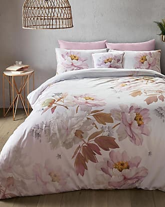 Ted Baker Butterscotch Grey Double Duvet Cover in Pink SCOTIE, Home