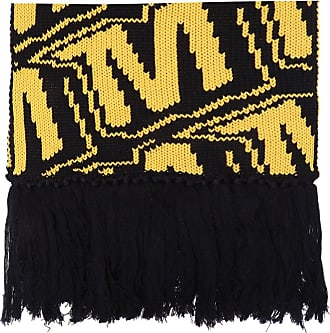 Msgm Patterned Scarf Mens Yellow