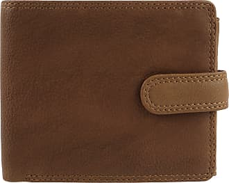 Visconti Mens Tan Leather Wallet Tabbed Bi-Fold Darwin Range Change Gift Boxed Oak