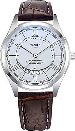 Yazole Relógio Masculino de Luxo Yazole D410 Pulseira de Aço e Couro (4)