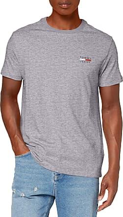 Tommy Jeans Mens TJM Chest Logo TEE T-Shirt, Grey (Lt Grey HTR P01), X-Large (Size:XL)
