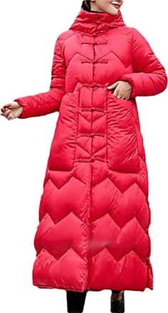 VITryst Fashion Womens Packable Down Coat Ultra Light Weight Hip Length Hooded Jacket,Red,X-Large