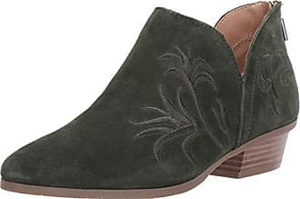 Kenneth Cole Reaction Womens Side Gig Tonal Embroidered Ankle Bootie Boot, Olive, 10 M US