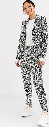 Ichi Schmale Anzughose mit Leopardenmuster-Mehrfarbig