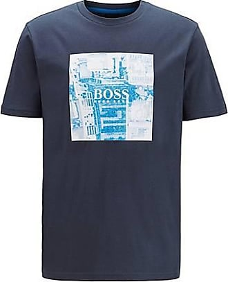 BOSS Pure-cotton T-shirt with PVC-free photographic print