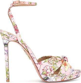 Aquazzura Scarpin com estampa floral - Rosa