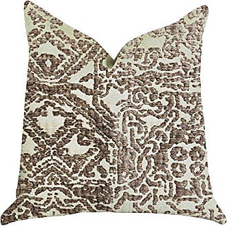 Plutus Brands Dusky Cosmo Textured Double Sided Luxury Throw Pillow 20 x 20 Brown/Beige
