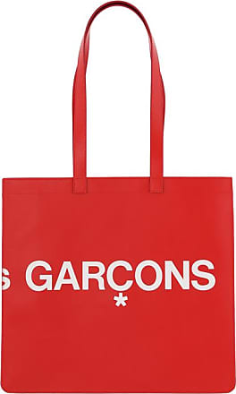 Comme Des Garçons Comme des garcons wallet Huge logo tote bag RED U