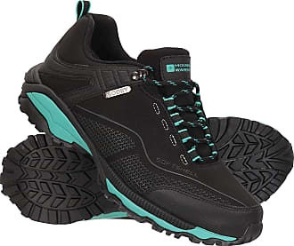 Mountain Warehouse Collie Waterproof Womens Shoes - Lightweight Ladies Shoes, Breathable Walking Shoes, Soft Hiking Shoes - Ideal for Walking & Hiking Black Womens Shoe