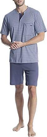 a95c36b75c CALIDA Relax Streamline 1 Kurz-Pyjama mit Knopfleiste Herren