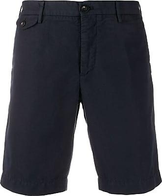 Incotex plain chino shorts - Blue