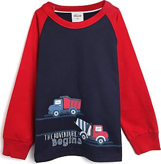 Elian Camiseta Elian Menino Estampa Azul-Marinho/Vermelho