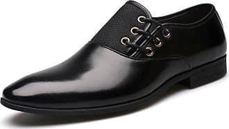 E-Thinker Mocasines Zapatos Vestir Ecocuero Casual Hombre -Negro 1a88b813d0cca
