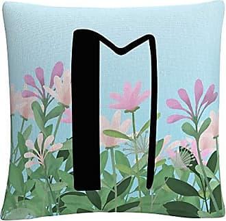 Trademark Fine Art Pink Floral Garden Letter Illustration M by ABC