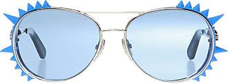 Philipp Plein Logo Sunglasses Mens Blue