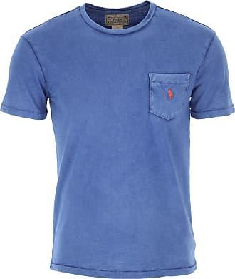 Ralph Lauren T-Shirt Uomo On Sale, Old Royal Blue, Cotone, 2019, L M S XL