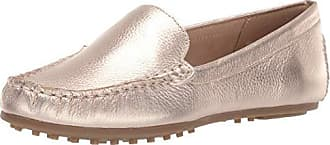 Aerosoles Womens Over Drive Shoe, Gold Leather, 8.5 M US