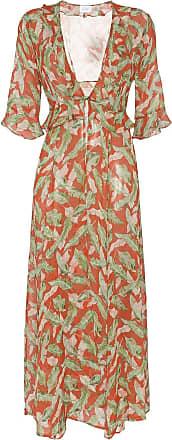 We are Leone Robe estampado Leaf - Vermelho