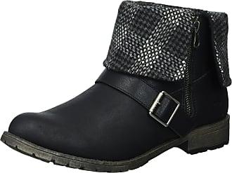 97d4fde23913 Rocket Dog Womens Bentley Lewis PU Randy Fabric Ankle Boot Black 8 B(M