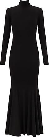 Norma Kamali Fishtail-hem Cutout-jersey Maxi Dress - Womens - Black
