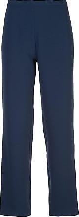 Natori Calça reta de crepe - Azul