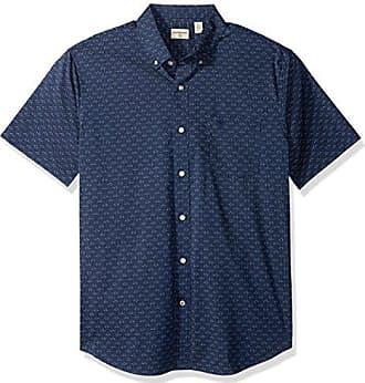 Dockers Mens Short Sleeve Button Down Comfort Flex Shirt, Montecito Blue, Small