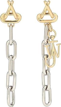 J.W.Anderson Loop chain drop earrings