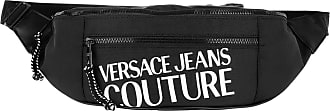 Versace Jeans Couture Belt Bags - Macrologo Belt Bag Two Pockets Black - black - Belt Bags for ladies