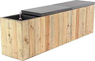 UMA Enterprises Inc. Deco 79 35632 Planter Bench, Light Brown/Gray