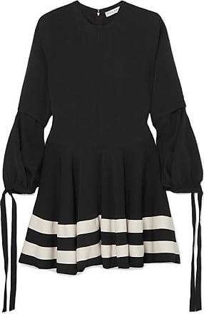 J.W.Anderson Canvas-trimmed Twill Mini Dress - Black
