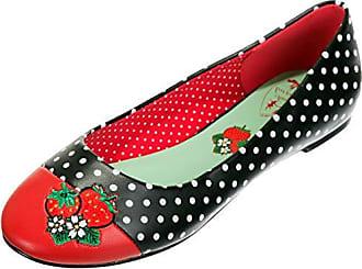 Dancing Days Damen Schuhe Isabella Polka Dots Punkte Flats Schwarz  Ballerinas 36 8c0b1dcf6e