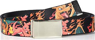 1.25 Wide Black//Yellow Buckle-Down Web Belt Pokemon Fits up to 42 Pant Size Pikachu Attack Poses PIKA-PIKA-CHU