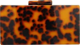 YYW Women Leopard Pattern Acrylic Clutch Bag, Fashion Party Evening Bag Crossbody Chain Purse Handbags