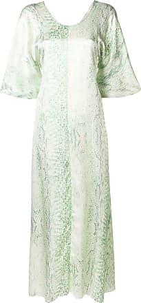 Forte_Forte Vestido evasê com padronagem - Verde