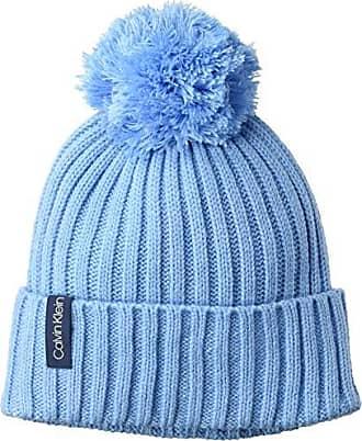 132c7a57 Calvin Klein Womens Basic Rib Pom Hat, faded blue, O/S
