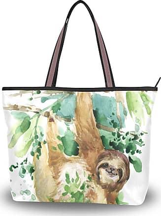 Lorona Women Sloth Canvas Shoulder Hand Bag Large Capacity Tote Bag