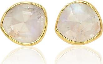 Monica Vinader Siren Stud Moonstone earrings - GOLD