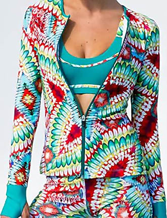 Luli Fama Womens Fitted Zip Jacket, Multi M