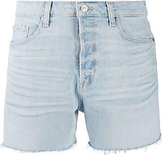 Paige frayed hem denim shorts - Azul