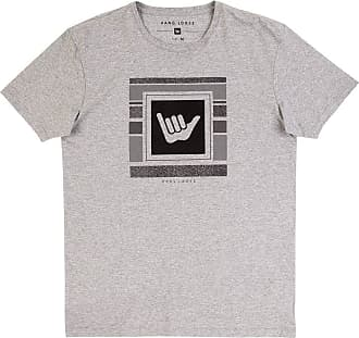 Hang Loose Camiseta Silk Logostripe Masculino Hang Loose Mescla Cinza - P