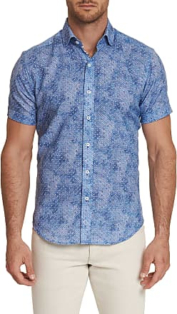 Robert Graham Mens Boyer Short Sleeve Shirt In Berry Size: 2XL by Robert Graham