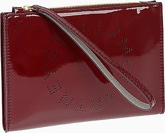 Stella McCartney Faux Leather Wristlet Bag with Printed Logo size Unica