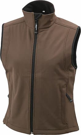 James & Nicholson JN138 Ladies Softshell Gilet Bodywarmer Brown Size XL