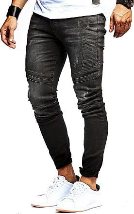 LEIF NELSON Mens Jeans Trousers Pants LN-9920N Black W34/L30