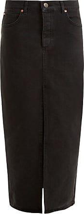 Raey Slit-front Denim Maxi Pencil Skirt - Womens - Black