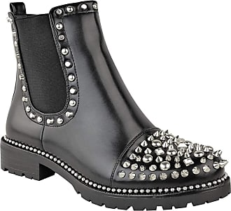 Ikrush Sasha Studded Ankle Boots Black UK 7