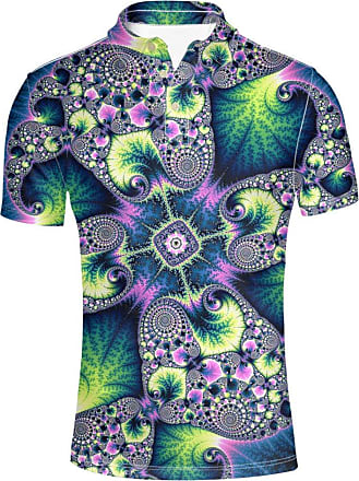 Hugs Idea Fashion Mens Short Shirt Polos Art Flowers Abstract Pattern Summer Hipster T-Shirts Sport Tees
