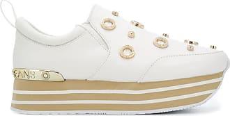 Versace Jeans Couture Tênis plataforma com aplicações - Branco