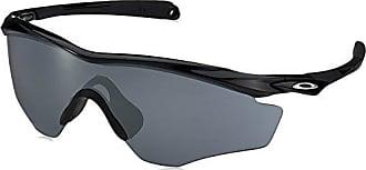 Oakley Mens M2 Frame XL Polarized Iridium Wrap Sunglasses, Polished black, 45.01 mm